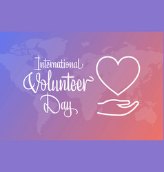International volunteer day for economic and vector