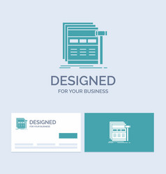 Internet page web webpage wireframe business logo vector