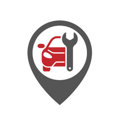 Mechanics icon inspiration auto pin car point vector