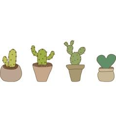 Mini Cactus Pot vector image