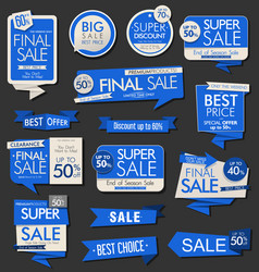 modern sale banners labels and tags collection 2 vector image