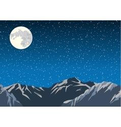 Mountains in the background of the sky vector