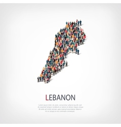 People map country Lebanon vector