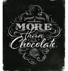 Poster chocolate black vector image