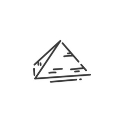 pyramid flat outline icon egypt concept vector image