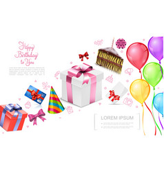realistic happy birthday concept vector image