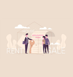 realtor sells house vector image