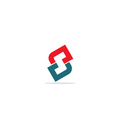 s initial colored logo vector image