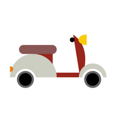 Scooter isolated transport icon on white vector