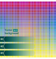 Seamless background of plaid pattern with place vector image