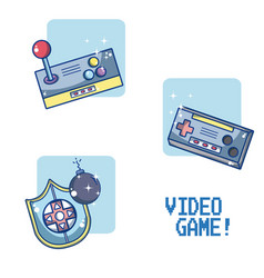 Set of videogame and consoles vector