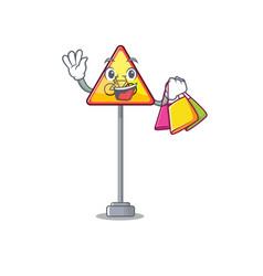 Shopping no cycling character shaped a mascot vector