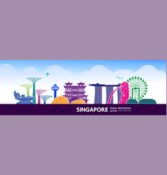 Singapore travel destination vector