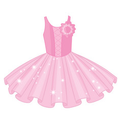Soft pink ballet tutu dress vector