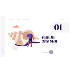 summer holidays vacation website landing page vector image