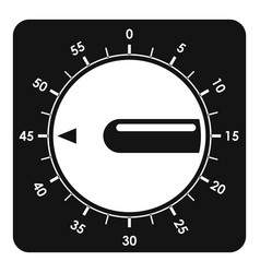 Timer clock icon simple style vector