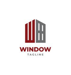 W window logo design vector