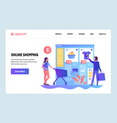 web site design template online shopping vector image