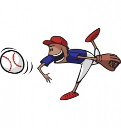 baseball pitcher vector image vector image