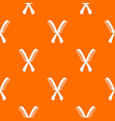 combs pattern seamless vector image