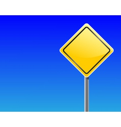 empty traffic sign vector image vector image