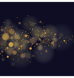 glittering stars on bokeh background vector image
