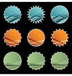 gradient stickers on black vector image vector image