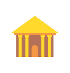 Greek temple isolated palace with columns ancient vector