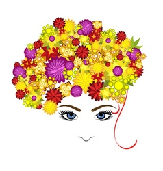 lady with flowers vector image vector image