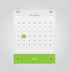 November 2013 Calendar vector image vector image