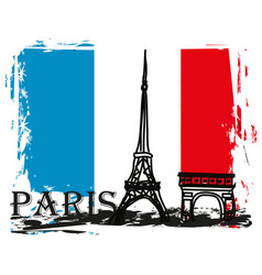 paris france - grunge abstract card vector image