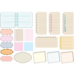 Scrapbook elements vector image
