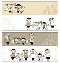 back to school children banners vector image