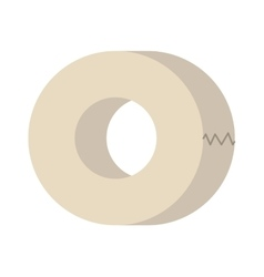 Roll of white insulating tape isolated on a vector