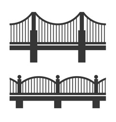 bridge icon set vector image