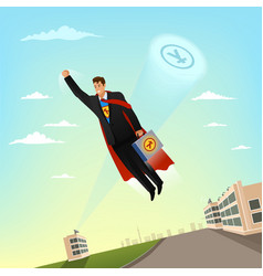businessman character in business suit and with vector image