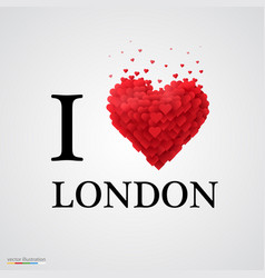 i love london heart sign vector image vector image