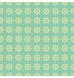 Nautical pattern with steering wheels vector