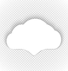 Speech cloud template on transparent background vector image