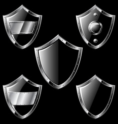 steel shields vector image vector image
