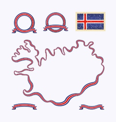 Colors of iceland vector