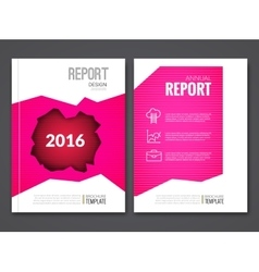 Cover report business pink red hole geometric vector