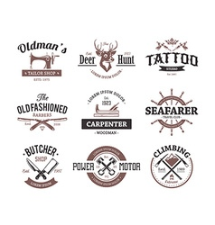 Craft Retro Emblems vector image vector image