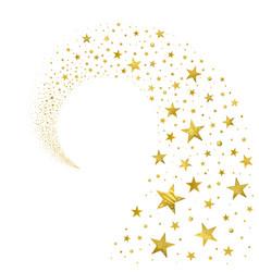 Swirl of gold stars vector