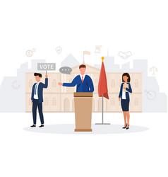 A male politician making speech vector