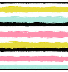 abstract hand drawn seamless pattern with striped vector image