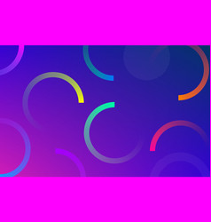 abstract neon circle pattern background vector image