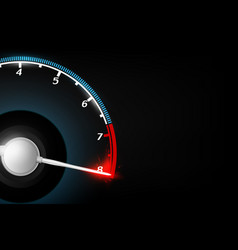 abstract tachometer technology concept background vector image
