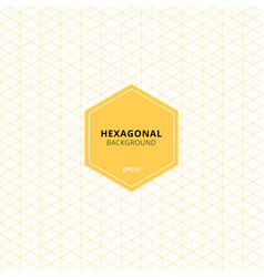 abstract yellow hexagons pattern on white vector image