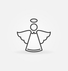angel line icon - christmas concept symbol vector image